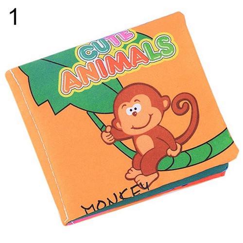 Foto Produk Buku Bantal Kain Bahasa Inggris Mainan Edukasi Bayi Softbook - Animals dari Grandia Shop