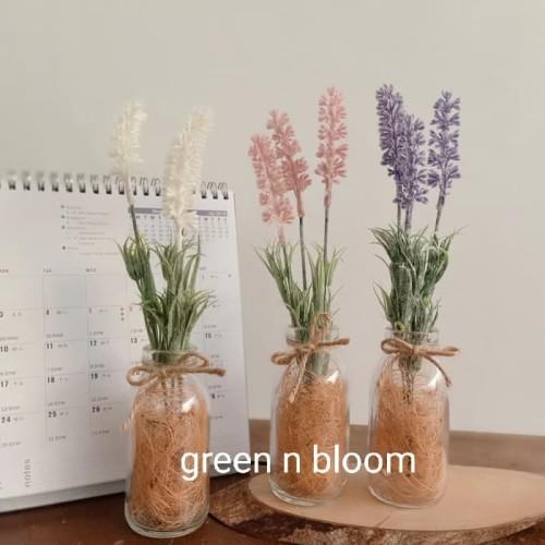 Foto Produk bunga vas plastik artificial shabby chic model G pajangan home decor dari Green n Bloom