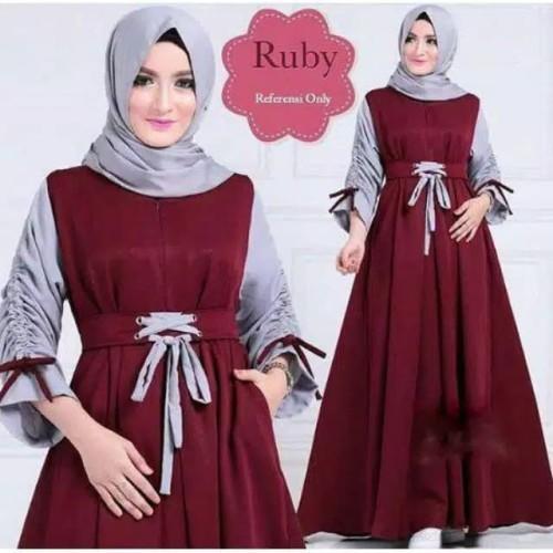 Jual Baju Syar I Baju Wanita Baju Gamis Maroon Kab Bandung Rizki Dhanis Tokopedia