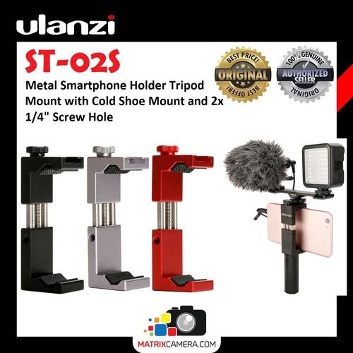Foto Produk Ulanzi ST-02S Smartphone Phone Holder HP Vlog Tripod Mount - Merah dari MatrixCamera