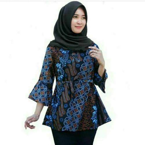 Foto Produk Atasan Batik Wanita Blouse Batik Katun Halus M L XL Lonceng dari Batik Rifa Official