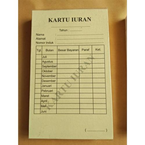 Contoh Format Buku Tabungan Qurban Kenangan Sekolah