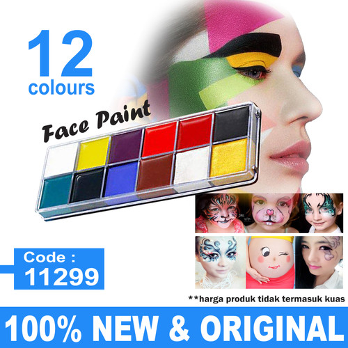 NEW Profesional Face & body art painting kit 12 warna 1