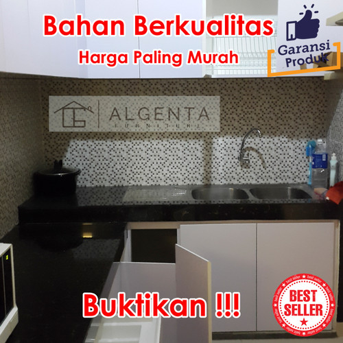 Jual Kabinet Kitchen Set Minimalis Custom Murah Furniture Dapur Kitchenset Jakarta Timur Algenta Furniture Tokopedia