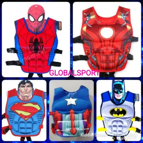 Foto Produk PELAMPUNG VEST SUIT PUDDLE JUMPER/ PELAMPUNG ANAK SUPER HERO dari Globalsport
