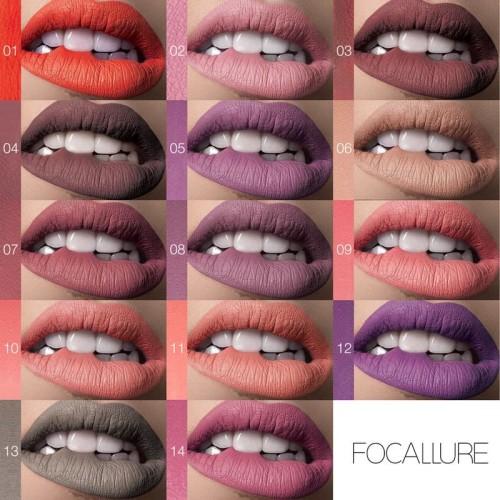 FOCALLURE Waterproof Matte Nude Liquid Lipstick FA57 - FA57-13 2