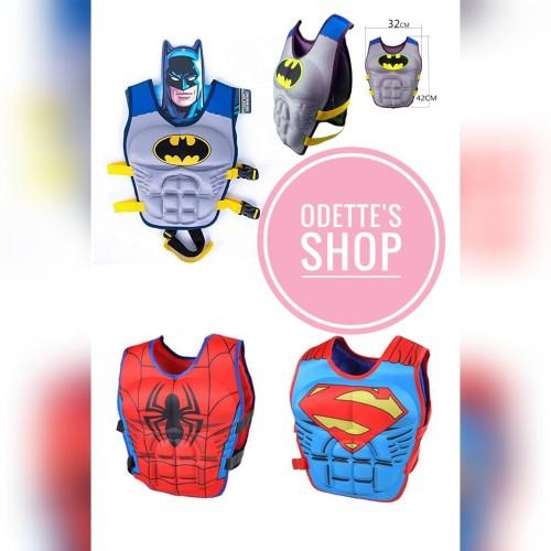 Foto Produk Pelampung renang anak puddle jumper ban lengan rompi superhero dari Odetteshop