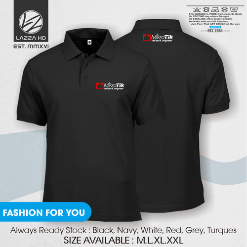 Foto Produk Poloshirt Polo Kaos Kerah Mikrotik network engineer Terlaris dari Lazza HD