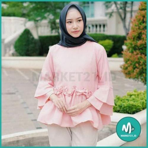 Foto Produk BAJU ATASAN MUSLIM WANITA JASMINA BLOUSE TERMURAH - DUSTY dari Market21_id