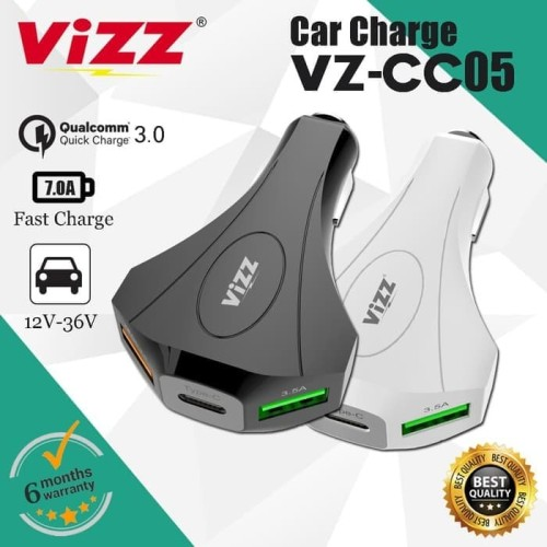 Foto Produk CAR CHARGER MOBIL QUALCOMM QUICK CHARGER 3.0 VZ-CC05 ORIGINAL VIZZ dari BenuaCell