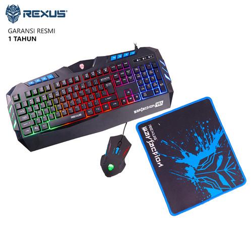 Foto Produk Keyboard Mouse Gaming Combo Rexus Warfaction VR1 dari Ridista Official Store