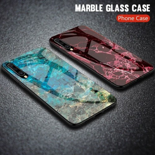 Foto Produk Marble Glass Case Samsung Galaxy A50 SamsungA50 Back Cover Casing dari Akhe Online Shop