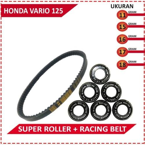 Foto Produk Paket Super Roller V Belt BRT Honda Vario 125 PGMFi dari GP Racing Store