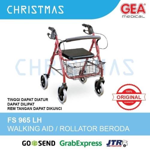 Foto Produk Walker Beroda / Rollator GEA FS 965 LH / Alat Bantu Jalan Beroda dari Christmas Underpad
