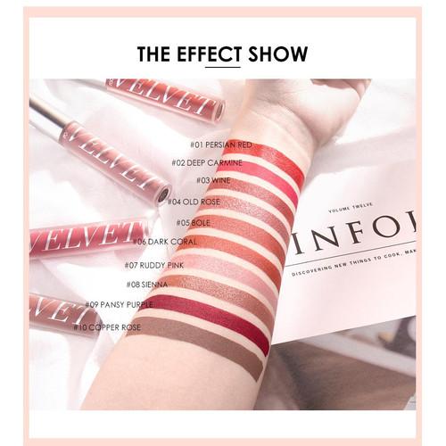 FOCALLURE Velvet Liquid Lipstick Makeup Lip Gloss FA76 - Copper Rose X 5