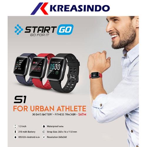 Foto Produk Smartwatch Start Go S1 Garansi Resmi - Hitam dari Kreasindo Online