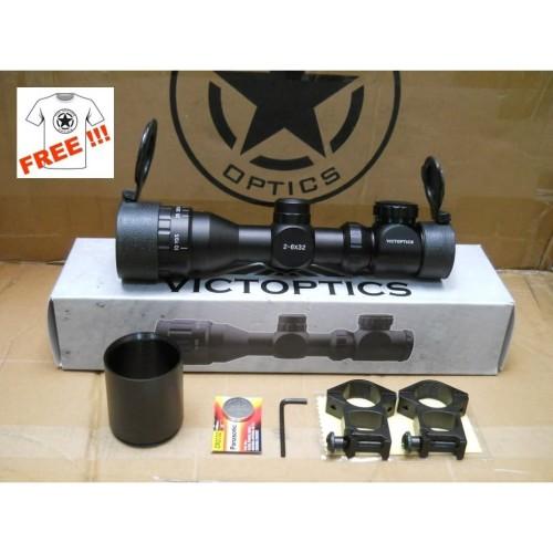 Foto Produk VICTOPICS RIFLESCOPE 2-6X32 SCOPE BY VECTOR OPTICS dari DO OFFICIAL STORE
