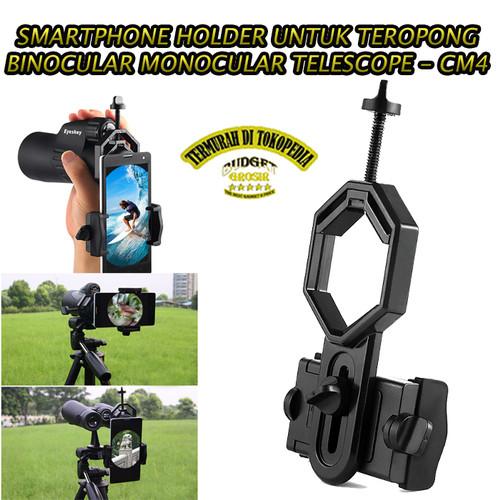 Foto Produk Smartphone Holder untuk Teropong Binocular Monocular Telescope - Hitam dari BudgetGrosir