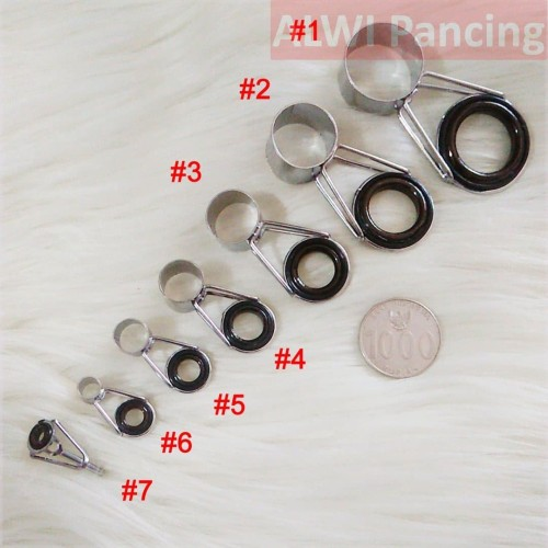 Foto Produk [1 SET] Ring Guide Joran Teleskopik / Cincin Joran Antena dari ALWI Pancing