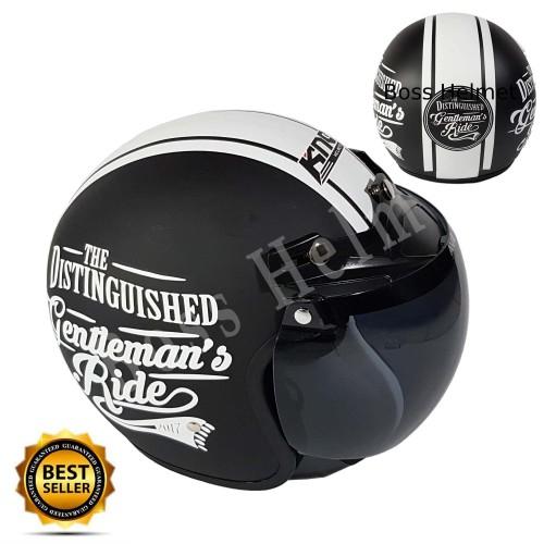 Foto Produk helm Bogo KNC Gentlement Black doff + kaca ava original bukan cargloss dari Boss helm