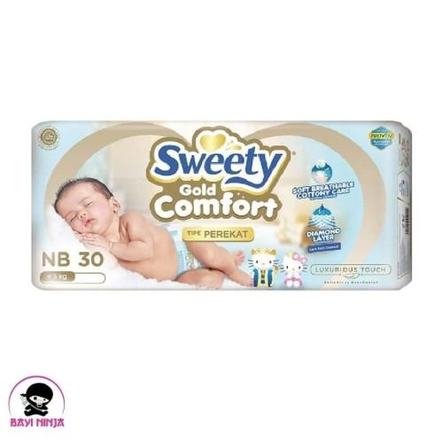 Foto Produk SWEETY Comfort Gold Popok Perekat NB30 NB 30 dari BAYININJA