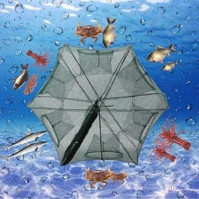 Foto Produk Payung Perangkap Bubu Jaring Jala Ikan Fishing Net Trap Cage 6 Lubang dari lbagstore