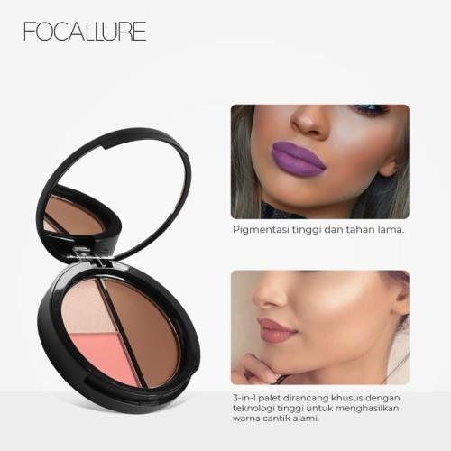 Focallure Face 3 In 1 Palette FA20 - FA20-02 3