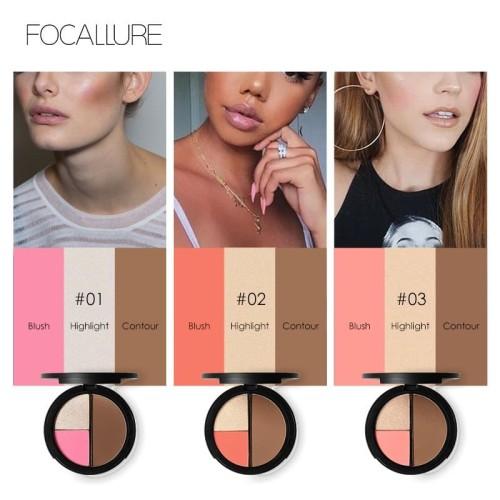 Focallure Face 3 In 1 Palette FA20 - FA20-02 2