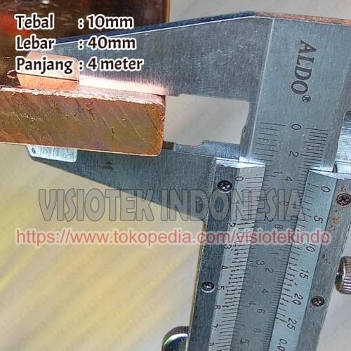 Jual Busbar Tembaga 10x40x4000 Plat Tembaga Asli Bus Bar Panel Kota Bekasi Visiotek Indonesia Tokopedia