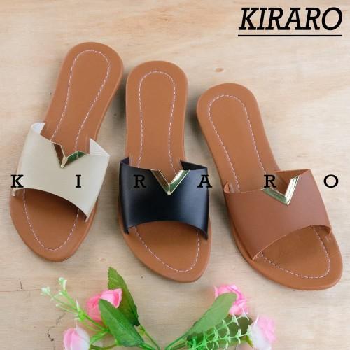 Foto Produk KIRARO - Sendal Kokop Gold Wanita Santai 205 - Cokelat, 39 dari Kiraro