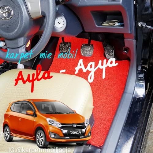 Foto Produk karpet mie mobil agya / ayla dari SMR Karpet Mobil Jogja