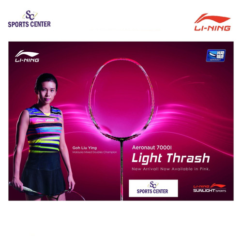 Foto Produk NEW COLOR!! Raket Badminton Lining AERONAUT 7000i / 7000 Instinct Pink dari Sports Center