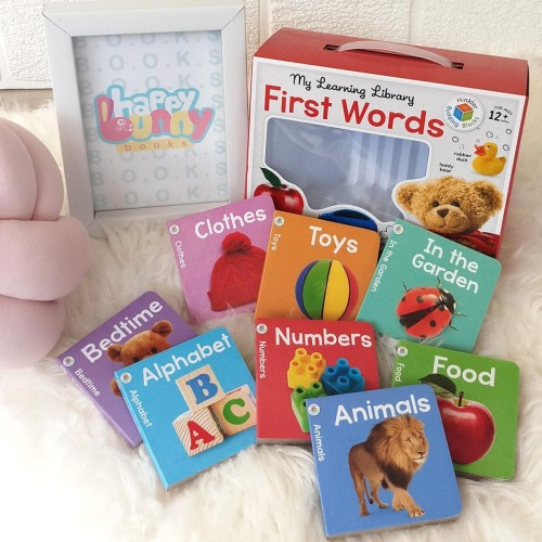 Foto Produk My Learning Library First Words (8 Board Books) dari HappyBunnyBooks