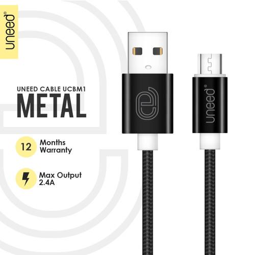 Foto Produk Uneed Nylon Kabel Data Micro USB Fast Charging 2.1A - UCBM1 - Hitam dari Uneed Indonesia
