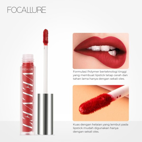 FOCALLURE Velvet Liquid Lipstick Makeup Lip Gloss FA76 - Copper Rose X 3