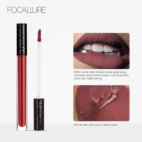 FOCALLURE Waterproof Matte Nude Liquid Lipstick FA57 - FA57-13 4