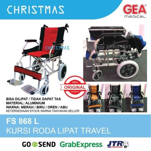 Foto Produk Kursi Roda Semi Travel GEA FS 868 L dari Christmas Underpad