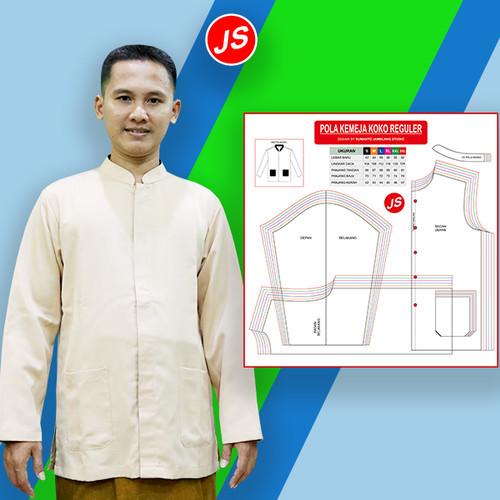 Foto Produk Pola Jiplak Kemeja Koko Reguler 6 in 1 ( JP 012 ) dari Jamblang Store