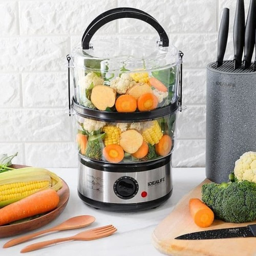 Foto Produk Food Steamer /Alat Pengukus Makanan Idealife IL 114 / 2 Layer dari Vintaco