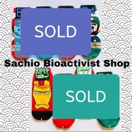Foto Produk KAOS KAKI PRIA Mario Spiderman (Made In KOREA) dari Sachio Bioactivist Shop