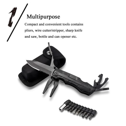 Foto Produk KNIFE PLIERS FOLDING MULTITOOLS EDC OUTDOOR SURVIVAL MULTI TOOL dari DO OFFICIAL STORE