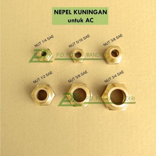 Foto Produk Nut 5/8 SAE - Kuningan dari PUTRA MANDIRI HYDRAULIC