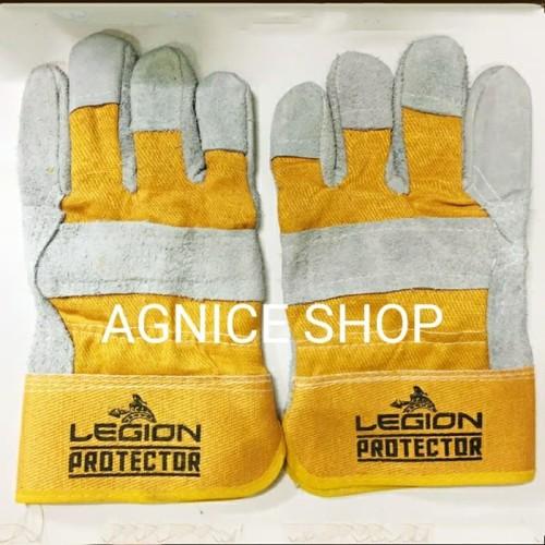 Foto Produk Sarung Tangan Kulit Kombinasi Legion Protector Las Gerinda Proyek dari AGNICE Shop