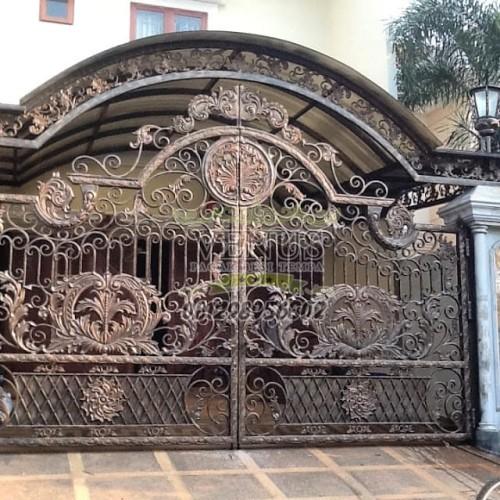 Jual Pagar Rumah Klasik Mewah Jakarta Barat Pagar Besi Tempa Mewah Tokopedia