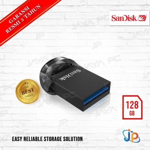 Foto Produk Flash Disk Sandisk Cruzer Ultra Fit CZ430 128GB USB 3.1 dari Jaya PC