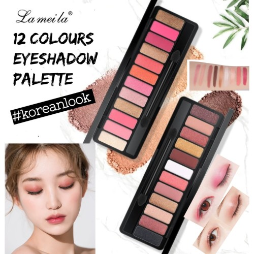 Foto Produk [ORI]12 Warna Eyeshadow Lameila 12 Colour Palette Eyeshadow Korean - No.01 dari Urban Collections