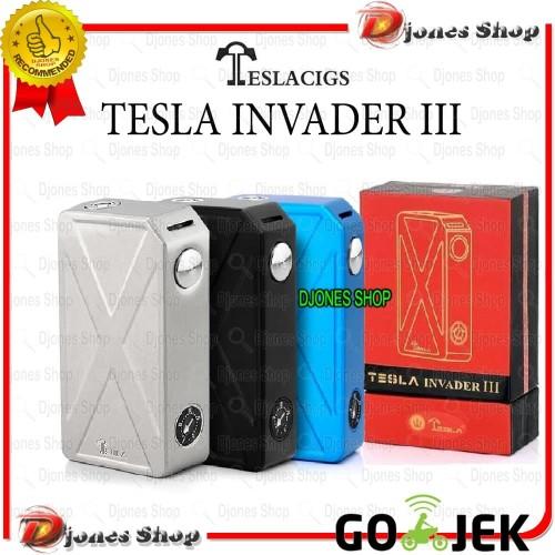 Foto Produk Vape Tesla Invader 3 / III SEMI MECHA MOD 240W - TidakPilihWarna dari Djones Shop
