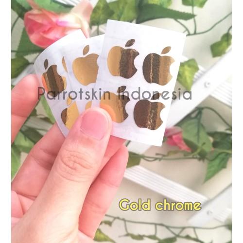 Foto Produk Sticker Chrome Gold Logo Apple / iPhone for oppo samsung xiaomi dll dari Parrotskin Indonesia