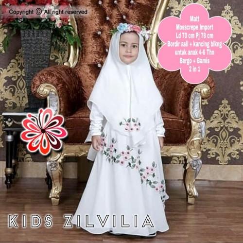 Jual Gamis Syari Putih Anak Perempuan 4 6thn Set Baju Gamis Putih Manasik Jakarta Pusat Yanisale Tokopedia