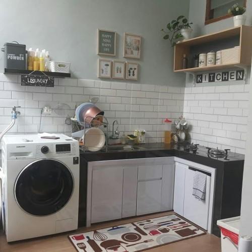 Jual Kitchenset Kabinet Dapur Custom Kitchen Set Minimalis Modern Kota Depok Nikayu Interior Design Tokopedia
